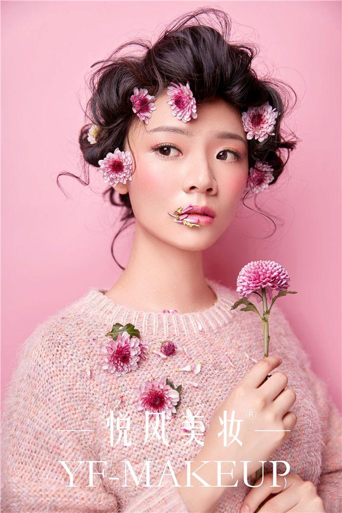 森系新娘妆 粉红的回忆
